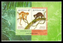 Australia #1490b Bears Joint Issue w/ Indonesia S/S Mnh Wildlife