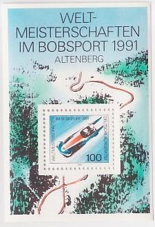 Germany, West #1626 Bobsled Champs S/S Mnh