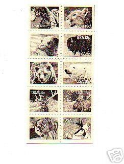 USA 1981 #1880-89 /1889a Wildlife Booklet Pane 10v Mnh