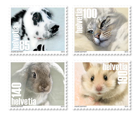 Switzerland 2015 New Issue: Pets 4v Mnh / **