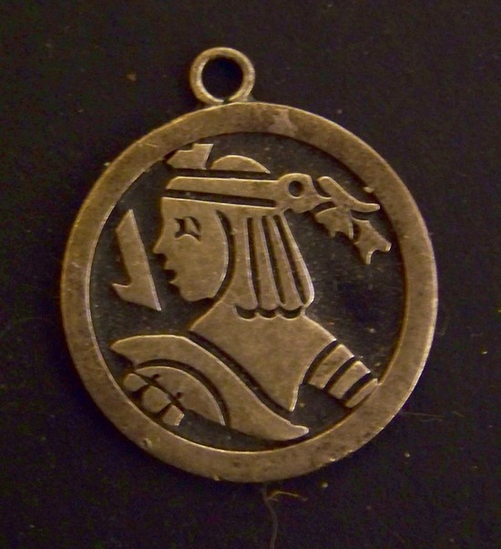 Vintage Sterling Silver Pendant Marked 925 Mexico Taxco