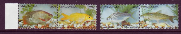 Malaysia #257-58 Tropical Fishes / Fish 4v (Set of Pairs) Mnh