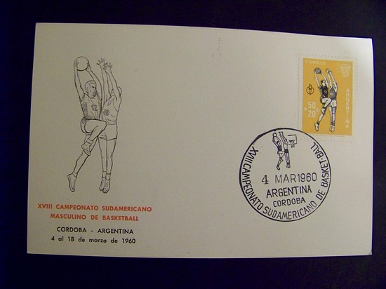 Argentina #B20 Basketball Championship 1960 Special Cancel on Ma