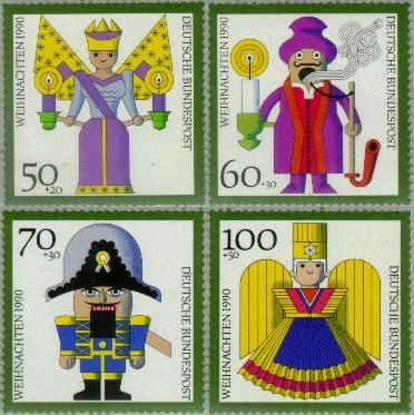 Germany, West #B697-700 Christmas Toys 4v Mnh