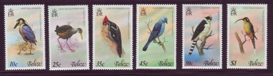 Belize #416-21 Birds 6v Mnh / **