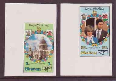 Bhutan #317-20 Royal Wedding Princess Diana 4v Imperf Mnh