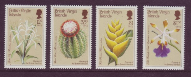 British Virgin Islands BVI #585-88 Cactus 4v Mnh