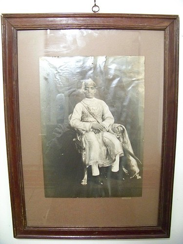 The Last Maharaja of Baroda Autographed Original Antique Frame