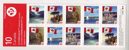 "Canada #2193a Lighthouses Flags ""P"" Definitive Booklet Mnh Bears"