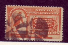 USA #E3 10c Orange Special Delivery 1v Fine Used Fancy Cancel