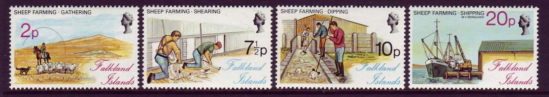 Falkland Islands #250-53 Sheep Farming Mnh
