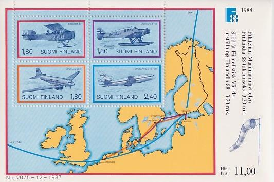 Finland #773 Airmail / Aircraft S/S Mnh