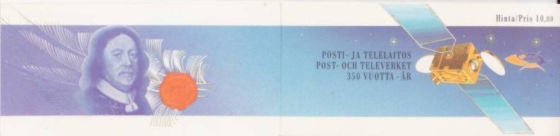 Finland #781a Postal Services Booklet - Space Mnh