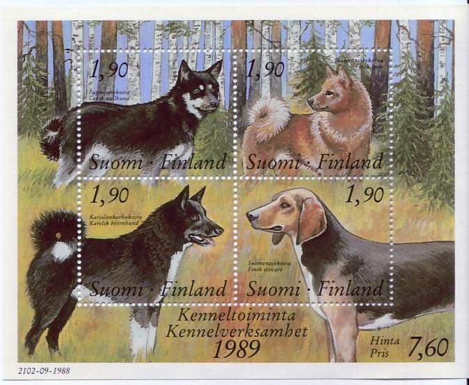 Finland #794 Dogs S/S Mnh