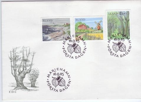 Aland #14, 18 & 19 1st Definitives 3v Official FDC Farm Windmill