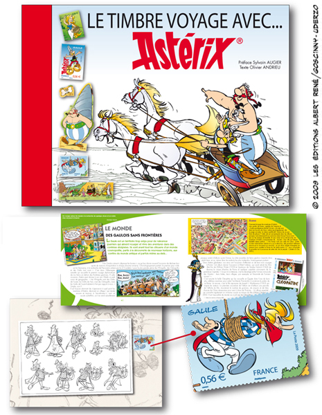 France 2009 Anniv of Asterix Deluxe Hardcover Comic Book Mint **