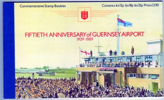 Guernsey #SB39 50th Anniversary Airport Unexploded Mint Booklet