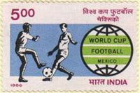 India #1121 World Soccer Cup 1v Mnh Sports Football