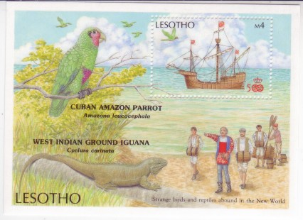 Lesotho 1987 #617 Columbus Discovers America S/S Mnh Ships