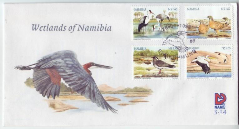 Namibia #941-44 Wetlands Birds 4v FDC