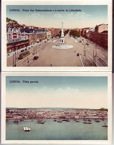 Lisbon Portugal Lisboa 1930's Scenes Post Card Booklet Mint - Click Image to Close