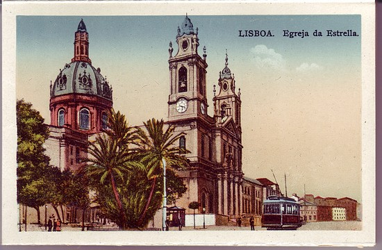 Lisbon Portugal Lisboa 1930's Scenes Post Card Booklet Mint