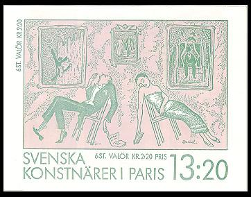 Sweden #1699 Art Unexploded Booklet Mnh / **