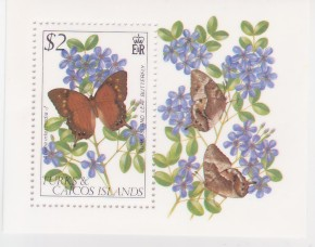 Turks & Caicos #511 Butterflies S/S Mnh Insects