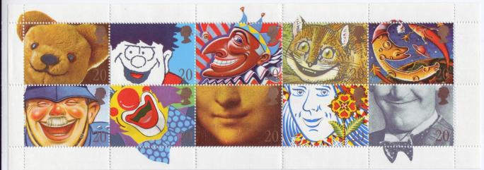 Great Britain #1313a Famous Smiles 1st Booklet Mnh