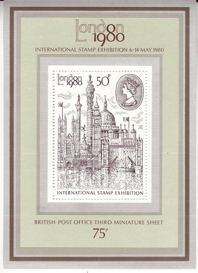 Great Britain #909a London 1980 S/S Mnh