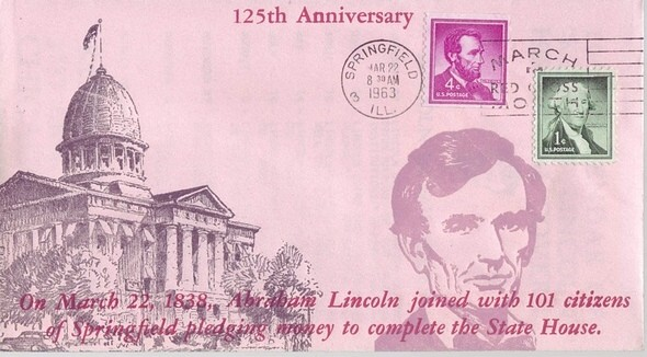 1838 - 1963 March 22nd Lincoln Joins 101 Citzens to Pledge Mone