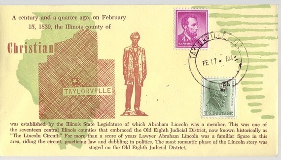 1839 - 1964 Feb 17th Lincoln County of Christian Taylorville is