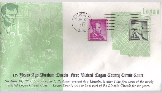 1839 - 1964 June 13th Lincoln First Visited Logan County Circu