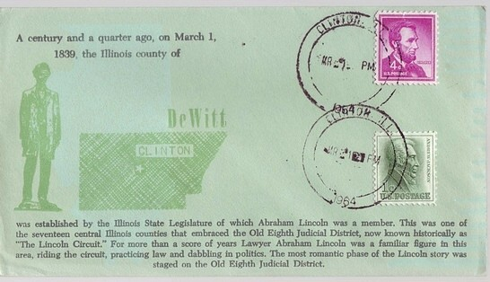 1839 - 1964 March 21st Lincoln County of DeWitt Established Cli
