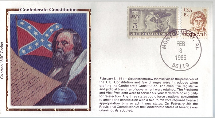 1861 - 1986 Civil War Feb 8th Confederate Constitution Colorano