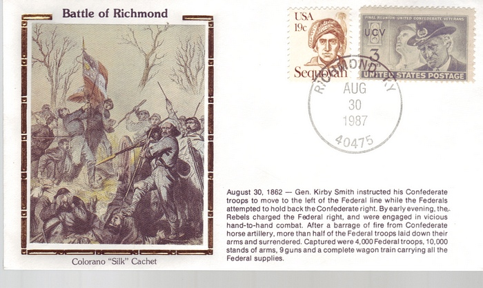 1862 - 1987 Civil War Aug 30th Battle of Richmond Flags Unifor