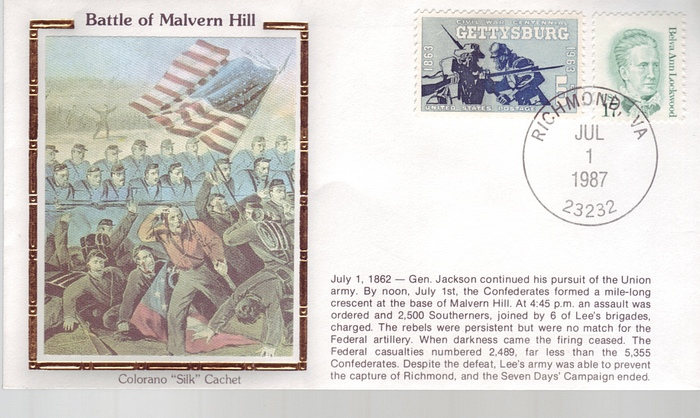 1862 - 1987 Civil War July 1st Battle of Malvern Hill Colorano