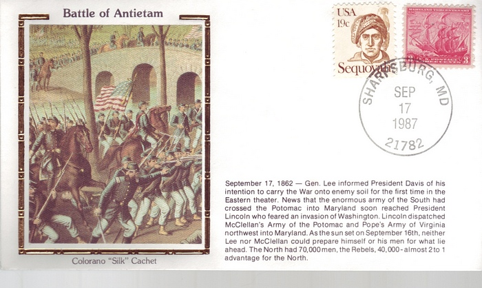 1862 - 1987 Civil War Sept 17th Battle of Antietam Flags Unifo