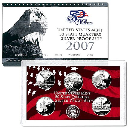 USA 2007-S 25c State Quarters Silver Proof Set