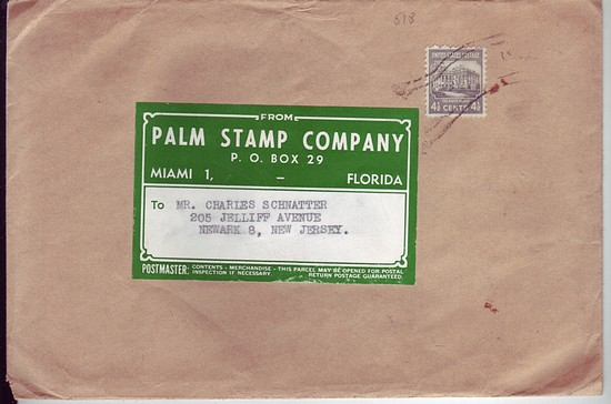 USA c1943 #809 4½c White House Solo Frank Prexie Parcel Post