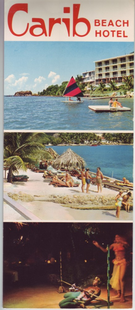 US Virgin Islands Carib Hotel Large Post Card c1970 Unused XF