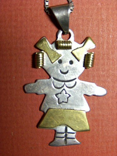 Gretel Sterling Silver Pendant Vintage Mexico 925