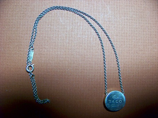 Tiffany Concave Circle 1837 Pendant and Necklace