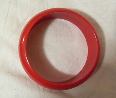 Vintage Lipstick Red Bangle Bakelite Excellent c1930-1940