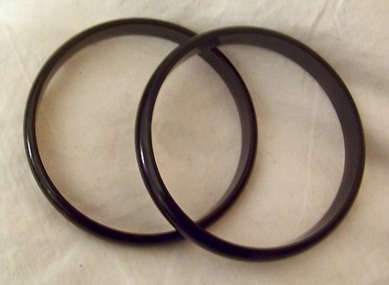 Vintage Black Pearl Bangle Lucite Excellent c1950-60