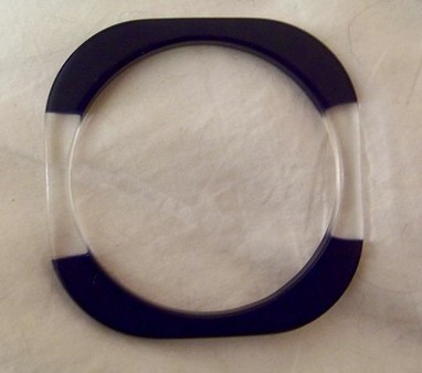 Vintage Blue / Translucent MOD Bangle Lucite Excellent Unique