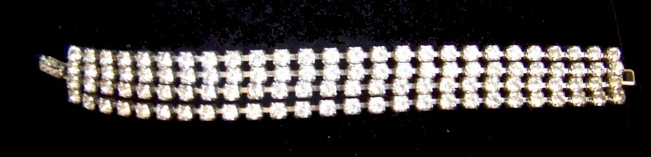 Vintage Rhinestone Bracelet Marvelous Condition c1960's
